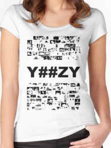 CAN'T AFFORD NO Y##ZY Women's Fitted Scoop T-Shirt