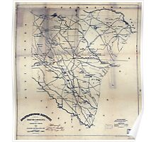 Civil War Maps 1699 Spartanburgh District South Carolina Poster