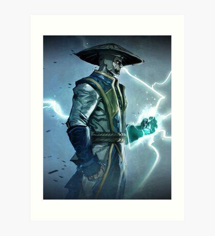 Raiden, Mortal Kombat Art Print
