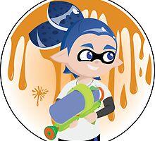Inkling Boy Sticker by Pallid