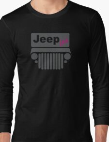 Jeep Girl Gray Long Sleeve T-Shirt