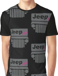 Jeep Girl Gray Graphic T-Shirt