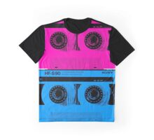 Cassette - Pink and Blue  Graphic T-Shirt