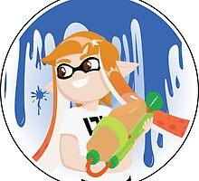 Inkling Girl Sticker by Pallid