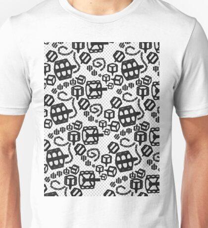 Lace Bicycle Parts Black Unisex T-Shirt