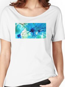 Blue Abstract Art - A Calm Energy - By Sharon Cummings Women's Relaxed Fit T-Shirt