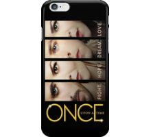 once upon a time, faces version 4 on black, emma swan, prince charming, snow white, hook, killian, ouat, ouat iphone case iPhone Case/Skin