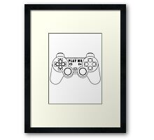 Video game - Play Me PS3 Black Framed Print