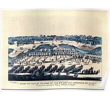 Civil War Maps 0201 Birds' eye view of the camp of the 67th Reg't PV Annapolis Md on the ground occupied by the troops of Washington Lafayette Poster