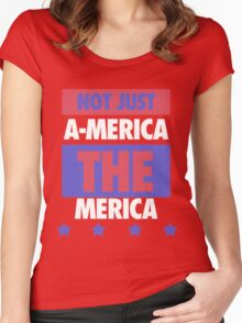 Not Just America - THE Merica - USA! Women's Fitted Scoop T-Shirt