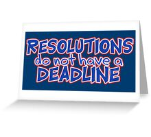 NYE Resolutions Greeting Card