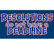 NYE Resolutions Photographic Print