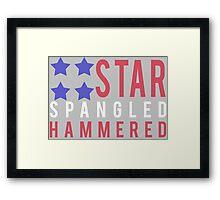 Star Spangled Hammered - USA! 'Merica! Framed Print