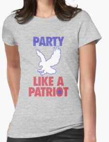 Party Like A Patriot - USA! Womens Fitted T-Shirt