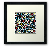 DJ Retro Vinyl Record Album Black Red Blue Pattern Framed Print
