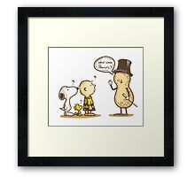 Peanuts cartoon Framed Print