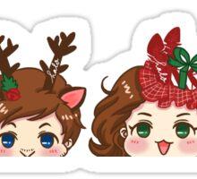 Cute little buddies Sticker