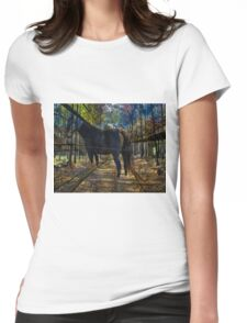 HORSE in the forest Womens Fitted T-Shirt