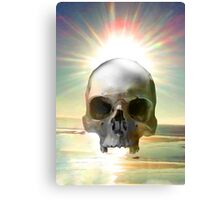 Skull Sunset Canvas Print