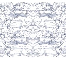 Robin Toile de Jouy Inspired Blue Sticker