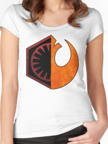 Star Wars Resistance and First Order Women's Fitted Scoop T-Shirt