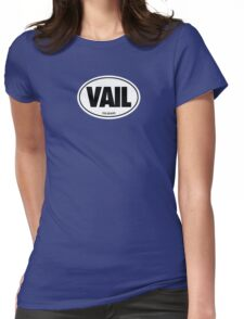 VAIL - EURO STICKER Womens Fitted T-Shirt