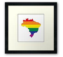 brazil gay map Framed Print