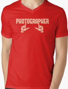 Photographer Fingers Mens V-Neck T-Shirt