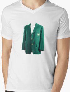 The Masters Golf Green Jacket Mens V-Neck T-Shirt