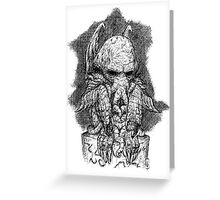 CTHULHU´S SCULPTURE Greeting Card