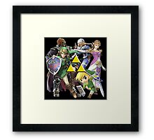 Legend Of Zelda Characters Framed Print