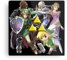 Legend Of Zelda Characters Metal Print