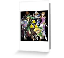 Legend Of Zelda Characters Greeting Card