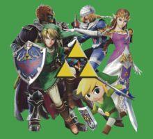 Legend Of Zelda Characters One Piece - Short Sleeve