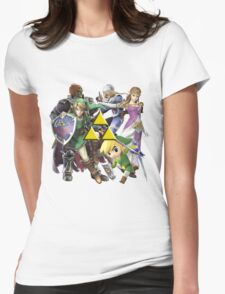 Legend Of Zelda Characters Womens Fitted T-Shirt