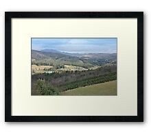 Mountain Valley of Blue and Green Framed Print