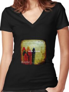 plushes and monsters #6 Women's Fitted V-Neck T-Shirt