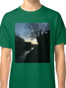 dusk by river Classic T-Shirt