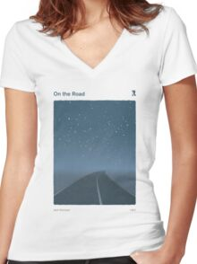 Jack Kerouac - On the Road Women's Fitted V-Neck T-Shirt