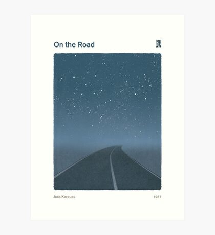 Jack Kerouac - On the Road Art Print