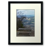 Best Seat In the House - Blue Ridge Parkway Framed Print