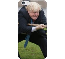 Boris Johnson grits his teeth during tug of war iPhone Case/Skin