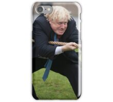 Boris Johnson grits his teeth during tug of war iPhone Case/Skin