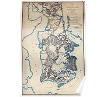 Civil War Maps 2279 Yorktown to Williamsburg Poster