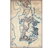 Civil War Maps 2279 Yorktown to Williamsburg Photographic Print