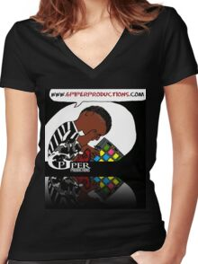 Gpiper Productions Women's Fitted V-Neck T-Shirt