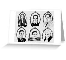 Addams Family Greeting Card