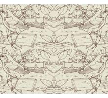 Robin Toile de Jouy Inspired Pale Lime Sticker