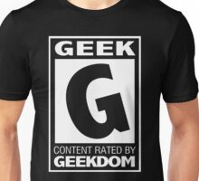 Rated G for Geek (White) Unisex T-Shirt