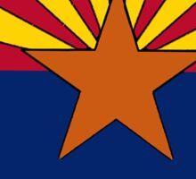 Arizona flag Montana outline Sticker